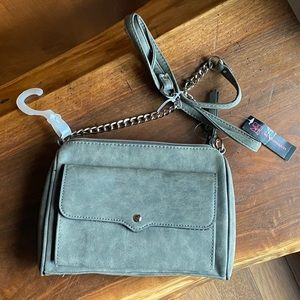 NWT gray & silver NoBo crossbody purse